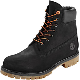 "Timberland Icon Collection Premium Boots Men 6"" Black Nubuck/Orange"